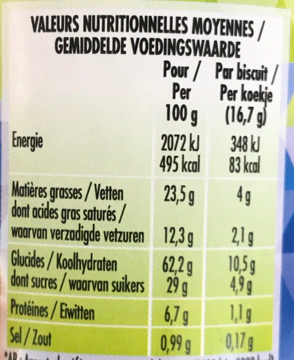 P'tit Déj Chocolat - Nutrition facts - fr