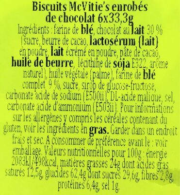 Digestives to Go - Ingredients - fr