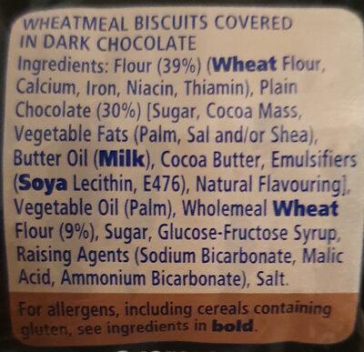 Digestives Dark chocolate - Ingredients - en