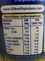 Caramel crispy bites - Nutrition facts - en
