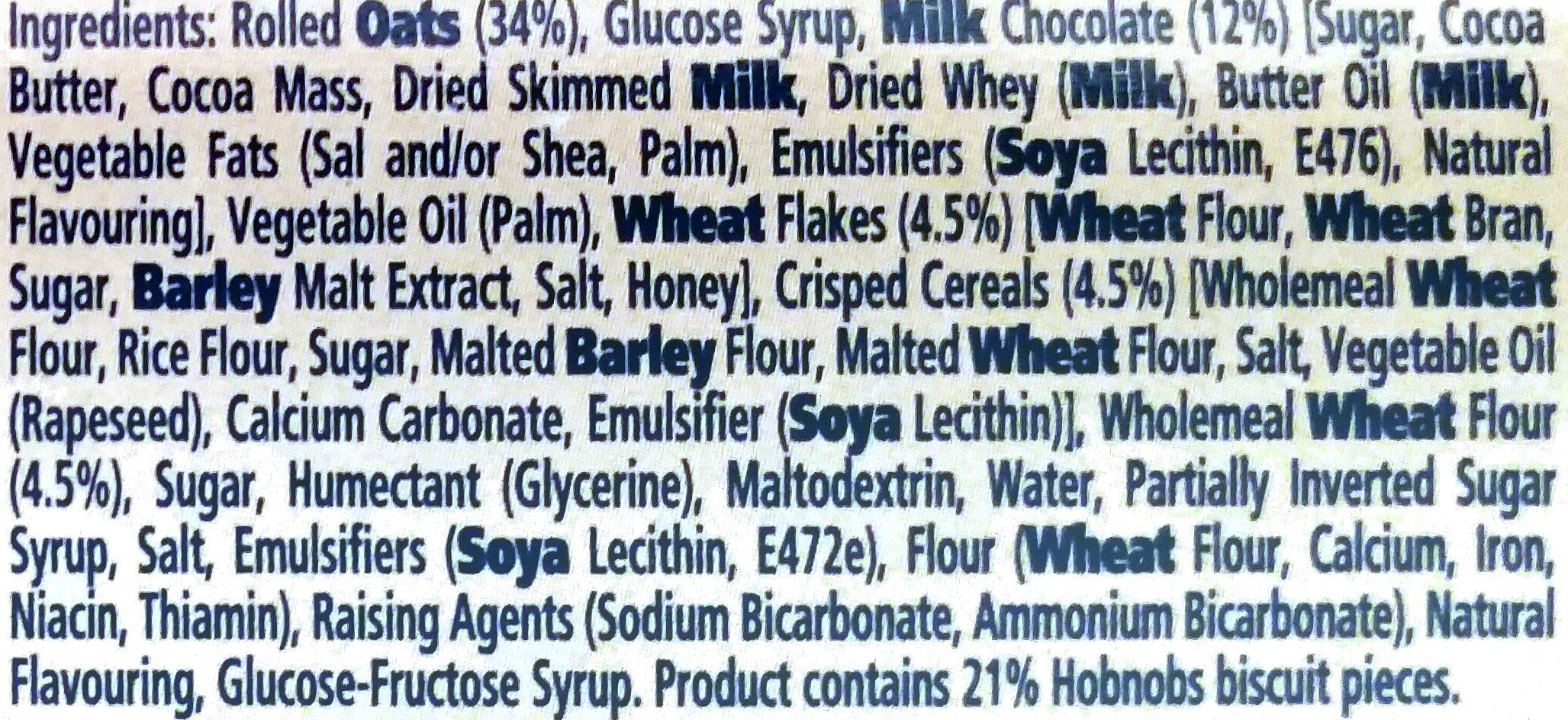 Hobnobs - Ingredients