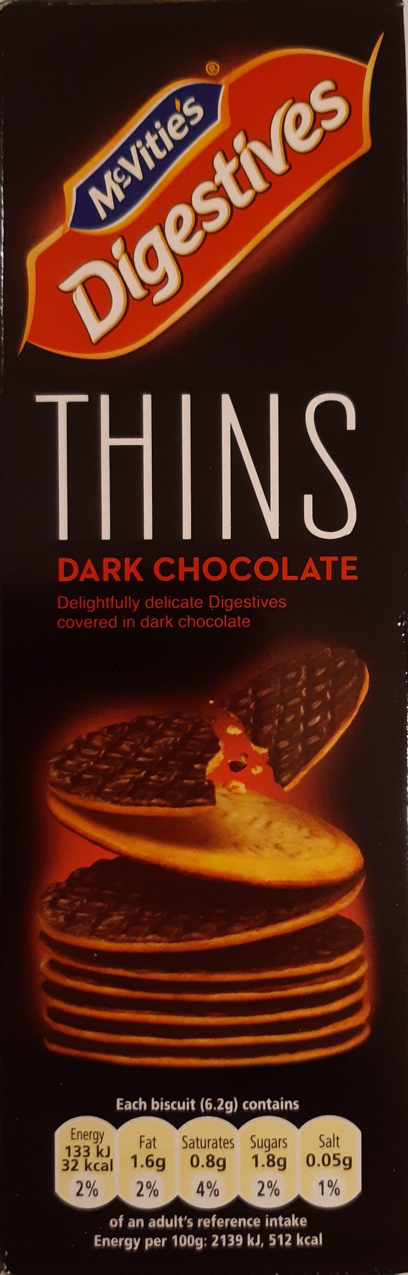 Mcvitie's Dark Chocolate Digestive Thins - Product - en