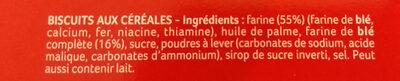 Sablé anglais - Ingredients - en