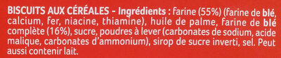 Sablés Anglais - Ingredienti - fr