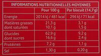 Sablé Anglais The Original - Voedingswaarden - fr