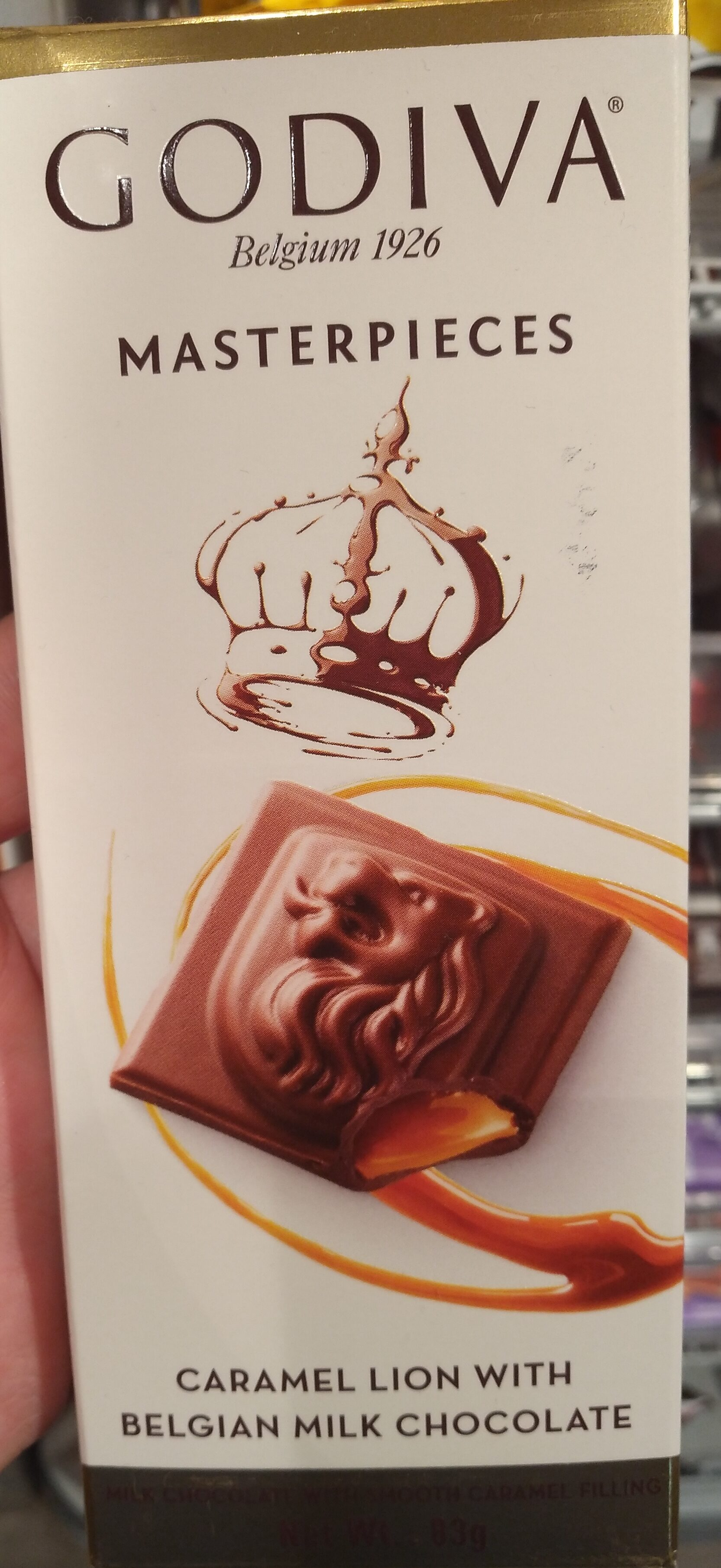 Masterpieces caramel lion with belgian chocolate - Product - nl
