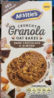 Crunchy oat bakes dark chocolate and almond - Product