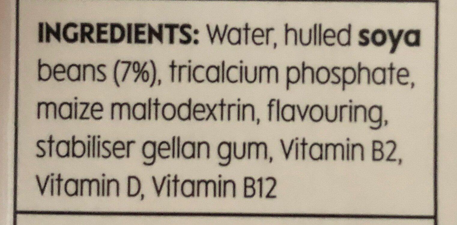 soya drink unsweetened - Ingredients