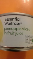 pineapple slices in fruit juice - Product