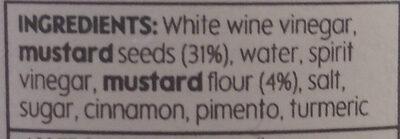 Wholegrain mustard - Ingredients