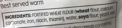 6 white pitta - Ingredients