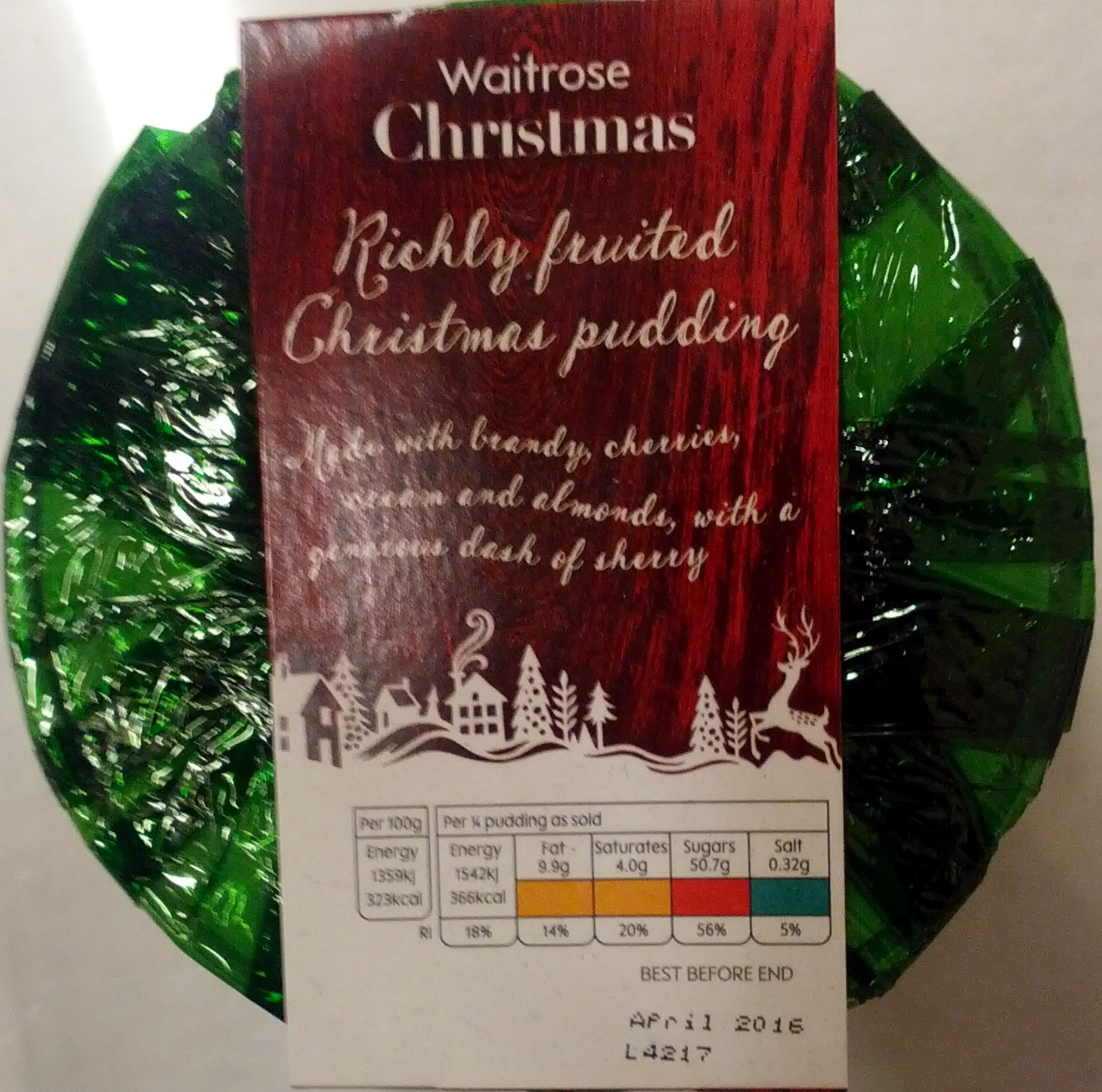 Richly Fruited Christmas Pudding - Product