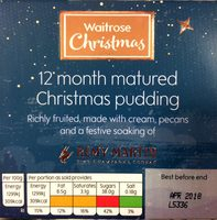 Richly Fruited Christmas Pudding 12 months matured, made with cream, pecans and a festive soaking of Rémy Martin Fine Champagne Cognac - Product - en