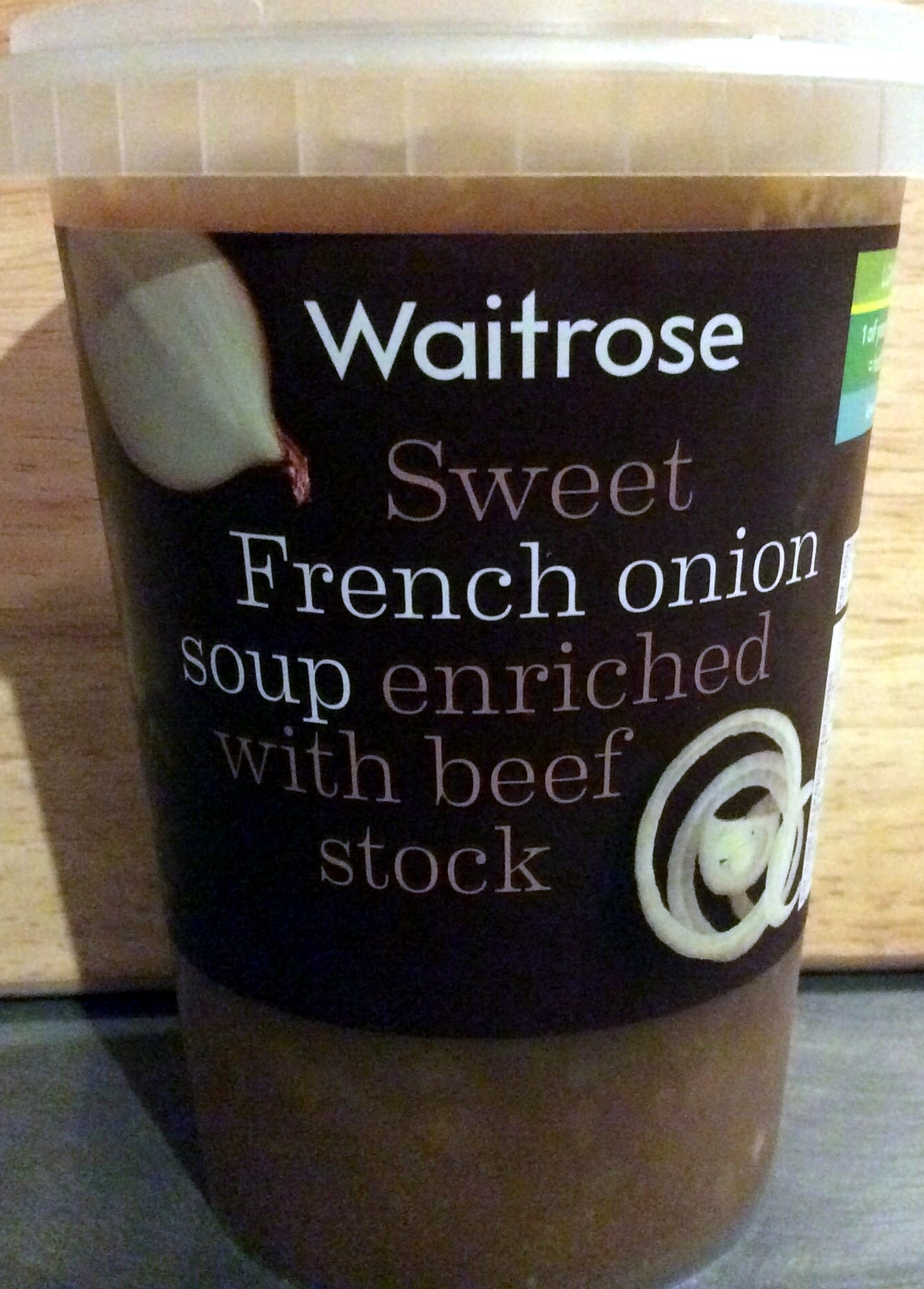 Sweet French onion soup enriched with beef stock - Produit