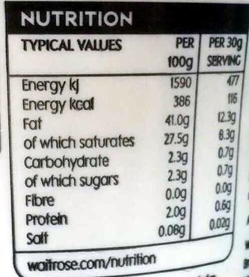 French crème fraîche - Nutrition facts