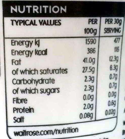 French crème fraîche - Nutrition facts - en