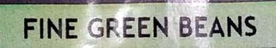 Fine Green Beans - Ingrediënten - en