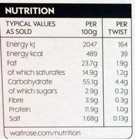 Crisps and tangy - Nutrition facts - en