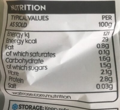 Baby spinach - Nutrition facts - en