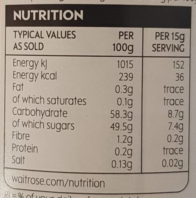 Strawberry preserve - Nutrition facts - en