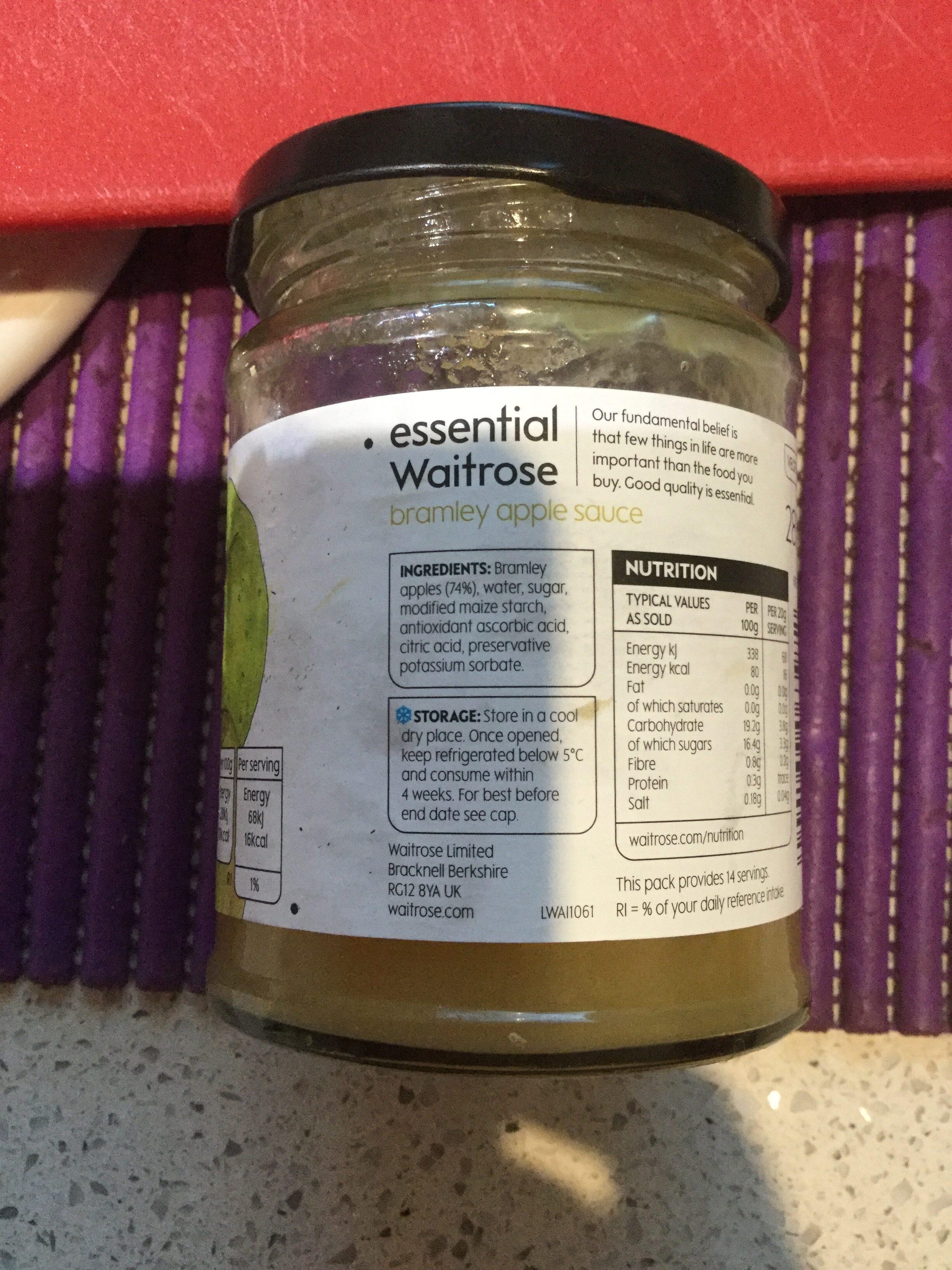 Waitrose Essential Bramley Apple Sauce - Ingredients