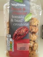 Waitrose Tomato & Basil Croutons - Product - en