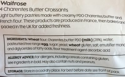 Croissants Made with Charentes Butter - Ingredients