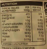 Borlotti beans - Nutrition facts - en