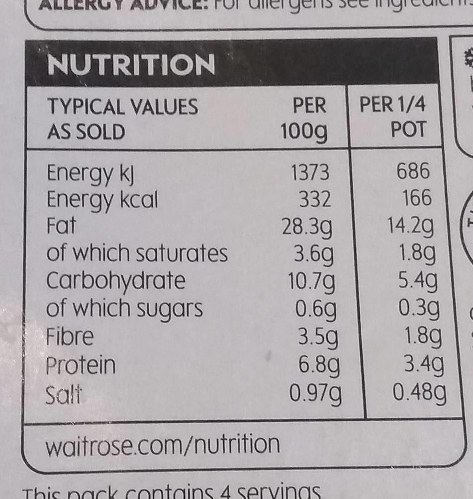 Houmous - Informations nutritionnelles - en