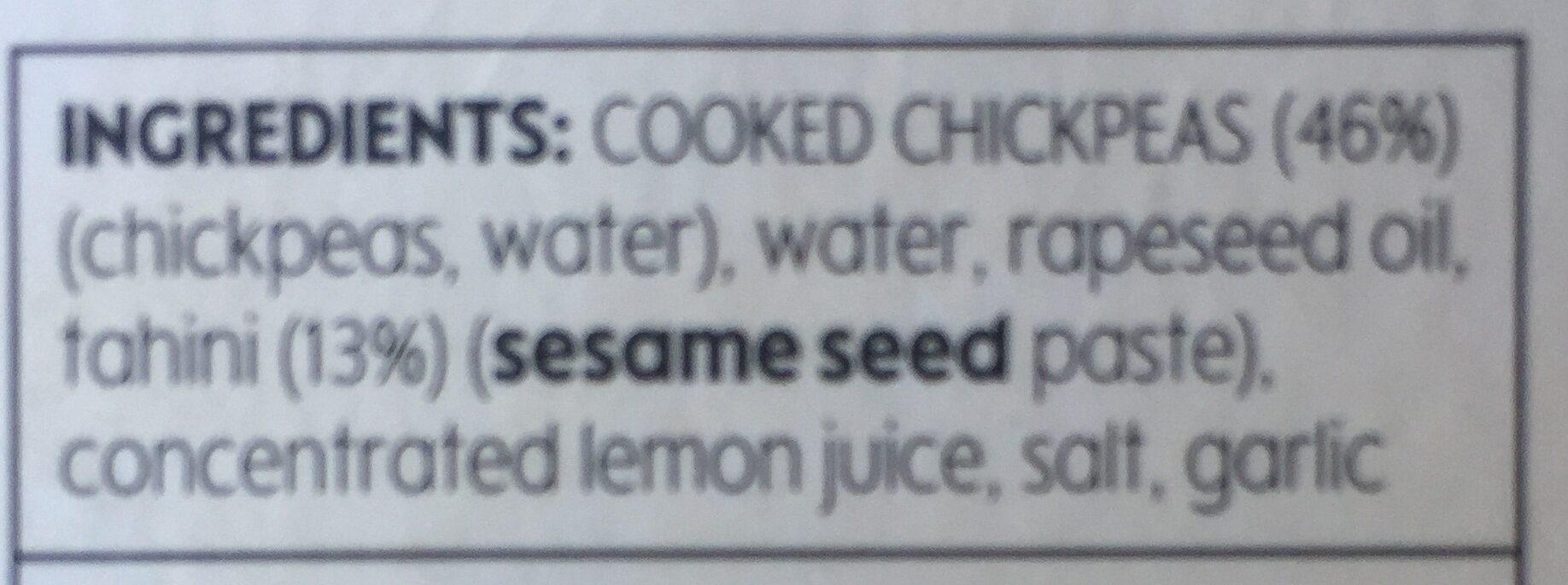 Houmous - Ingrédients