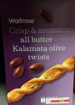 Crisp & aromatic all butter Kalamata olive twists - Product