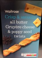 All Butter Gruyerè Cheese & Poppy Seed Twists - Product - en