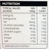 All Butter Gruyerè Cheese & Poppy Seed Twists - Nutrition facts - en
