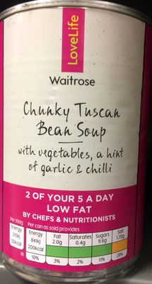 Chunky Tuscan bean soups with vegetables, a hint of garlic & chilli - Product