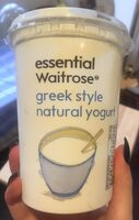 Greek style natural yogurt - Product