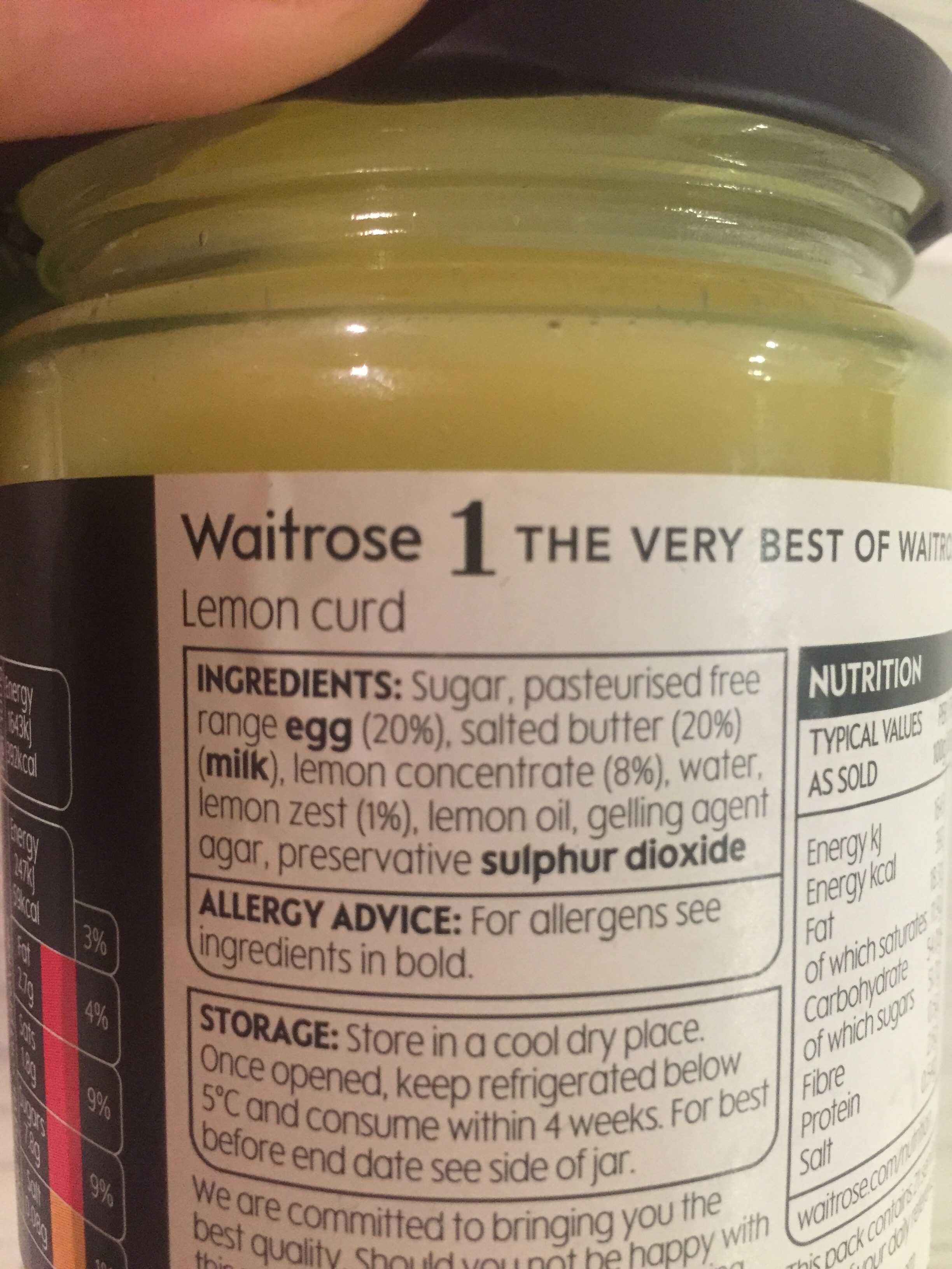Seriously zesty lemon curd - Ingredients