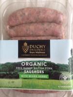 Organic free range british pork sausages with mixed herbs - Produit - en