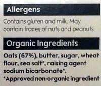 Oaten biscuits - Ingredients