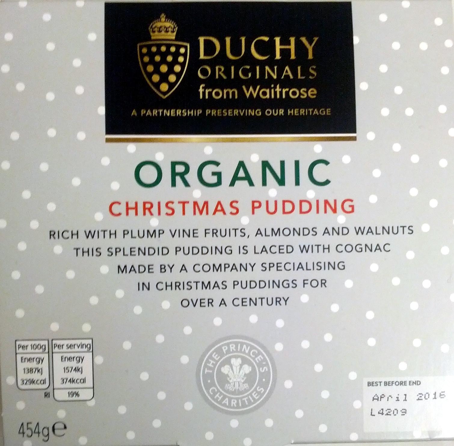 Organic Christmas Pudding - Product