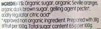Organic Seville Orange Marmalade Thick Cut - Ingredients