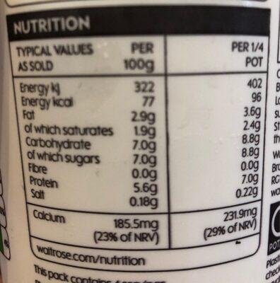 Low fat greek style yogurt - Voedingswaarden