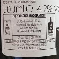 Golden Ale - Voedingswaarden - en