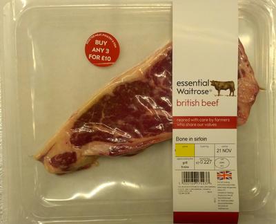 British beef bone in stirloin - Product - en