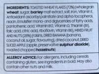 Fruit & Fibre - Ingrediënten - en