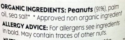 peanut butter - smooth - Ingredients