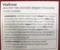 Waitrose Belgian Double Chocolate All Butter Cookies - Ingredients