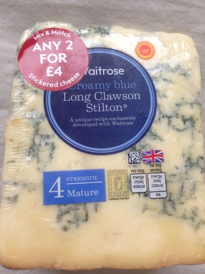 Creamy blue Long Clawson Stilton - Product