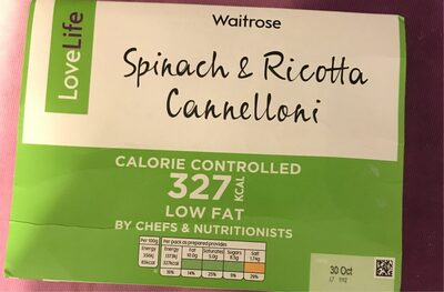 Spinach and ricotta cannelloni love life - Product - en