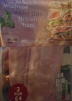 Wafer thin British ham - Product