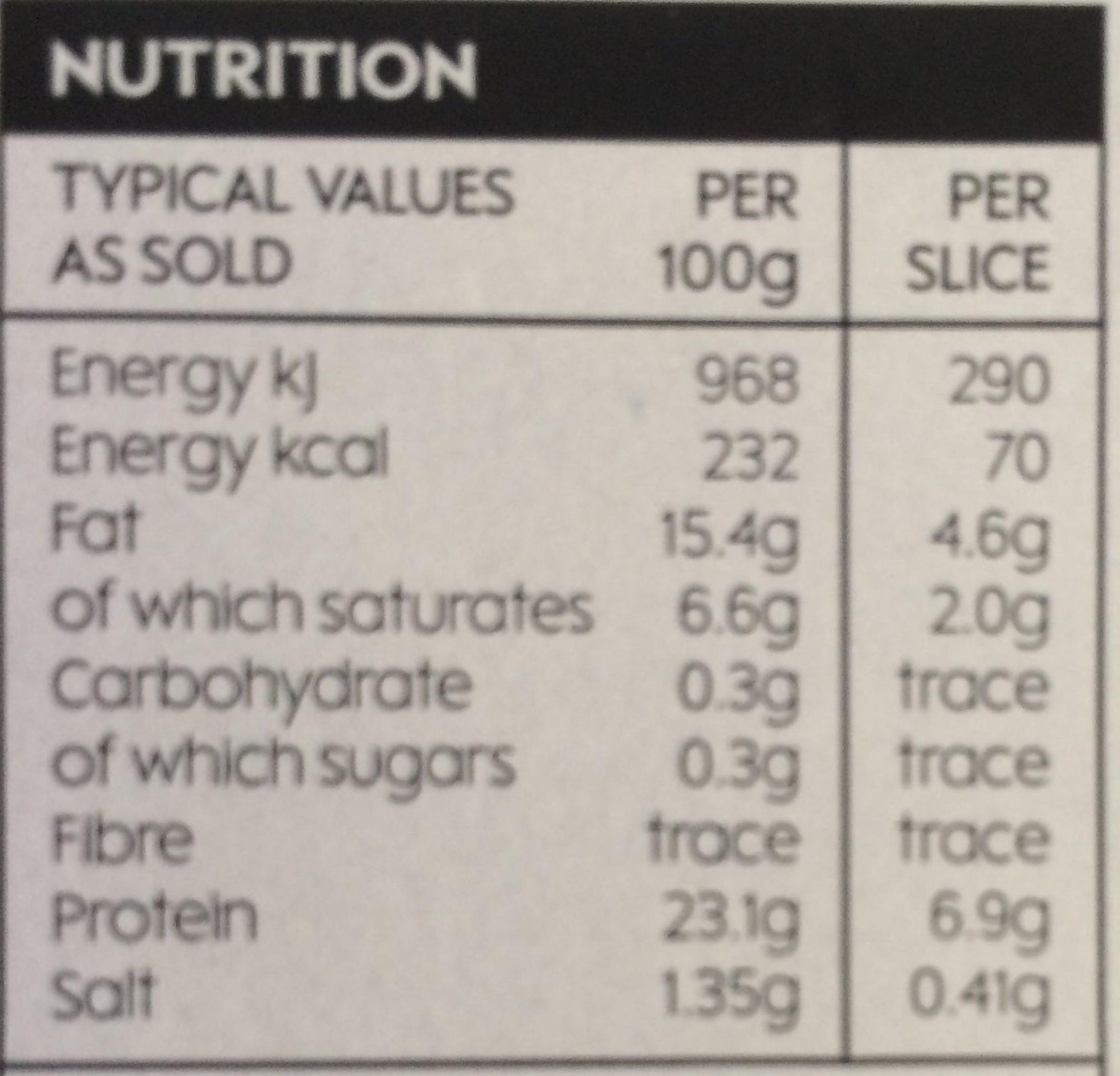 British Corned Beef - Nutrition facts - en
